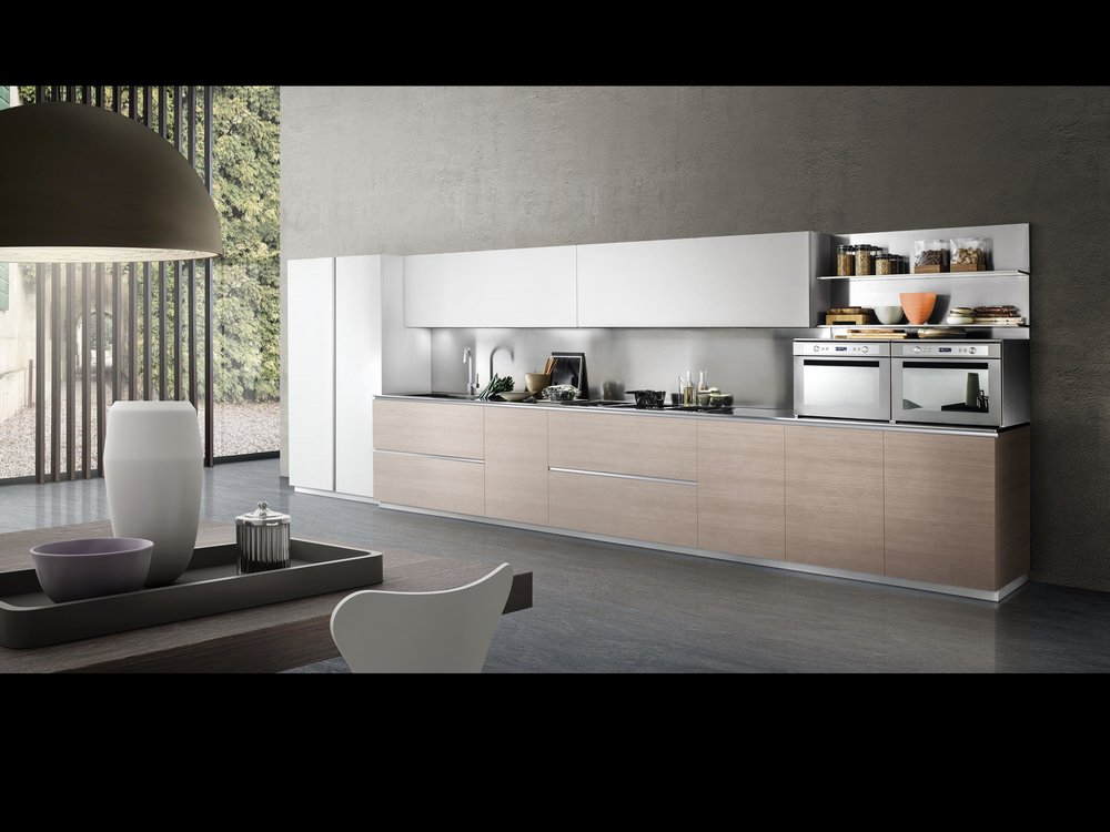 Contemporary style kitchen with open plan design