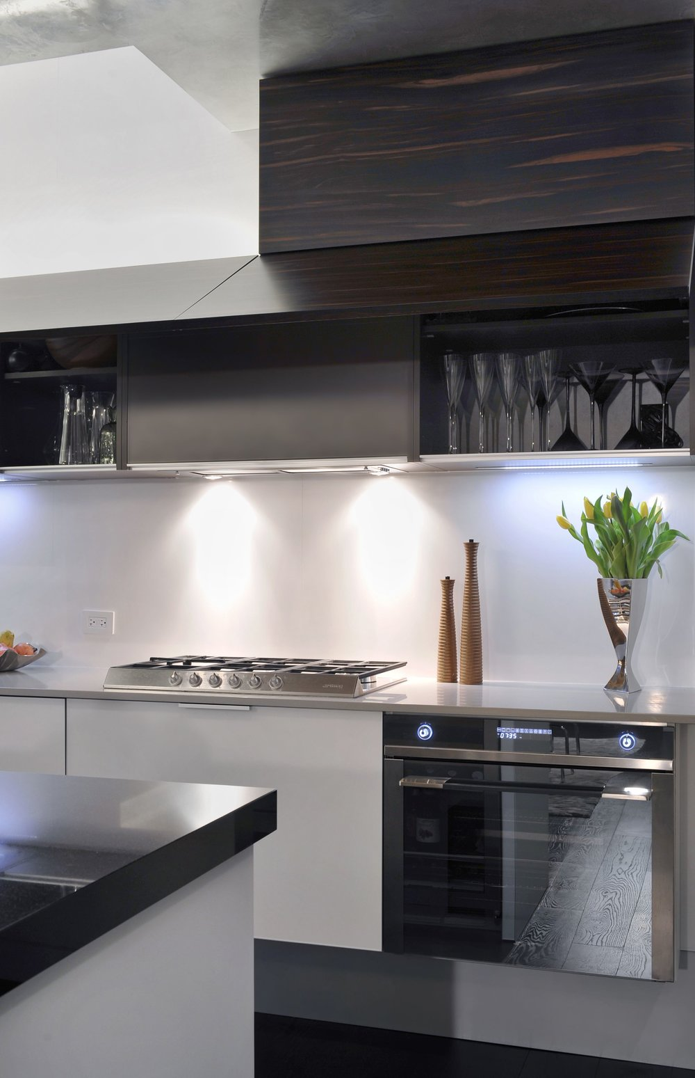 Contemporary style kitchen stainless oven