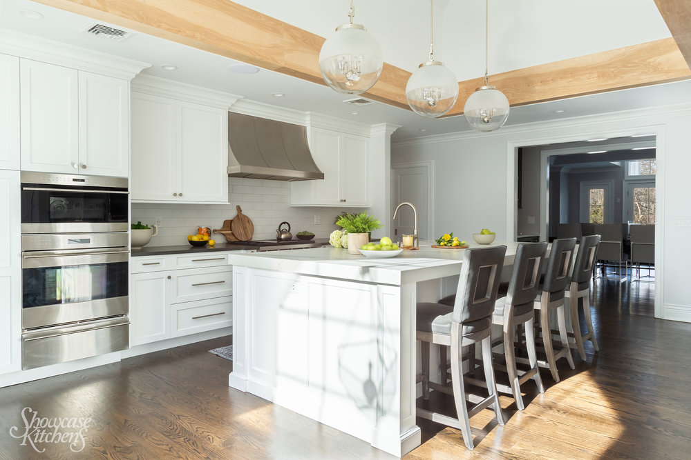 Transitional kitchen with Wolf oven
