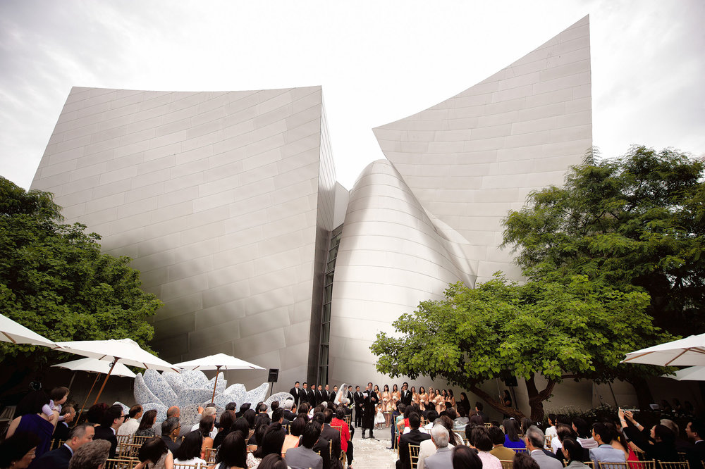Wedding ceremony at the Walt Disney Concert Hall in Los Angeles.