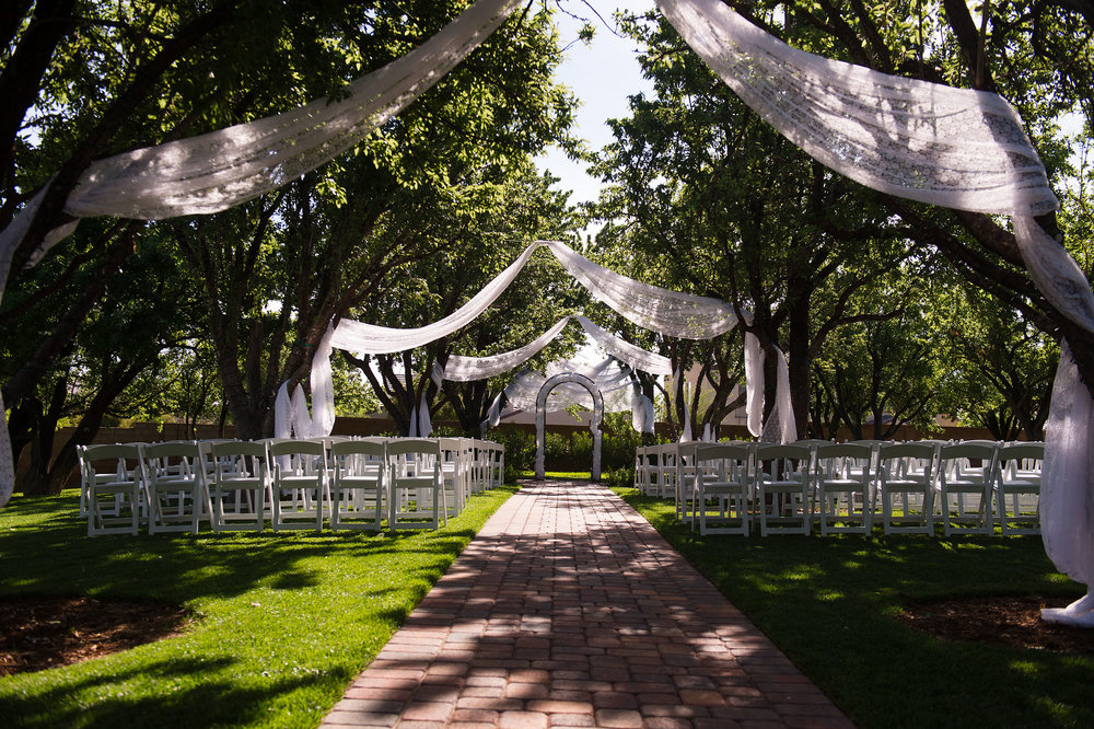 Ceremony location at the Grove At Silk Purse Ranch in Las Vegas.