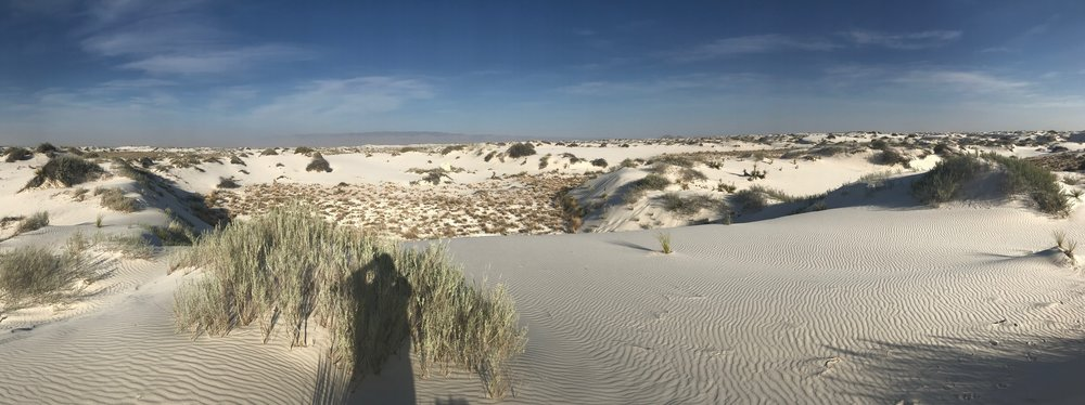 Looking east towards the Sacramento Mountains, White Sands National Monument, New Mexico.  THIRSTY YET?