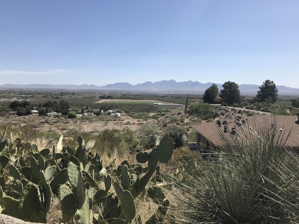 The Rio Grande Valley, overlooking Las Cruces New Mexico, the San Andreas Mountains across the way. This was the view we awoke to at our campsite.