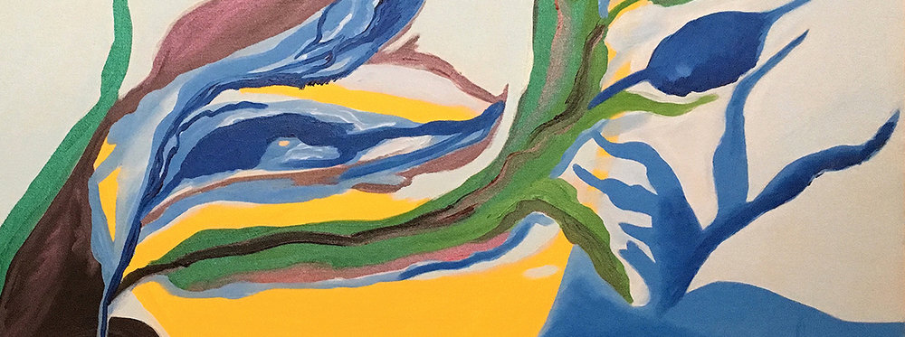 Hummingbird, (detail) 2003, oil on canvas, 36 x 48 inches
