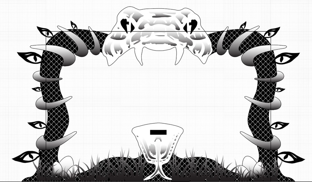 Illustrator file of the screen frame