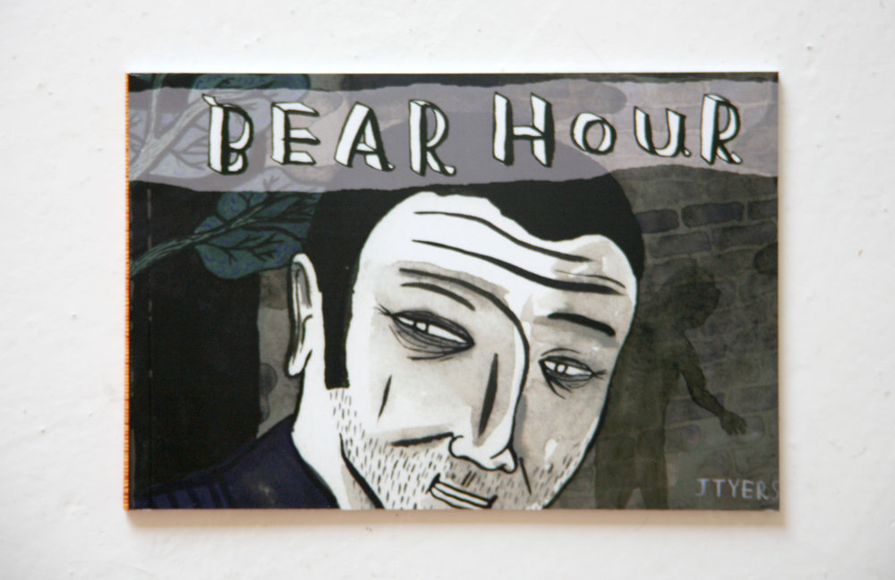 Bear Hour - A book published by Blabbermouth Books. This book concerns a gangster having an interesting day.These drawings were also exhibited at Imp Above, in Greville Street, Prahran, Melbourne.