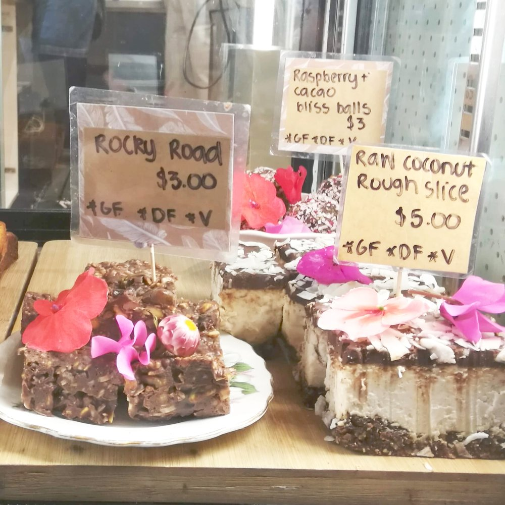 The beautiful vegan treats I sampled earlier this year at  Patio Rose Cafe , Tauranga, New Zealand