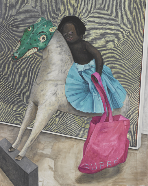 Jacqui Stockdale  Lady Supre on Horseback, 2010  Oil on linen 155 x 122cm