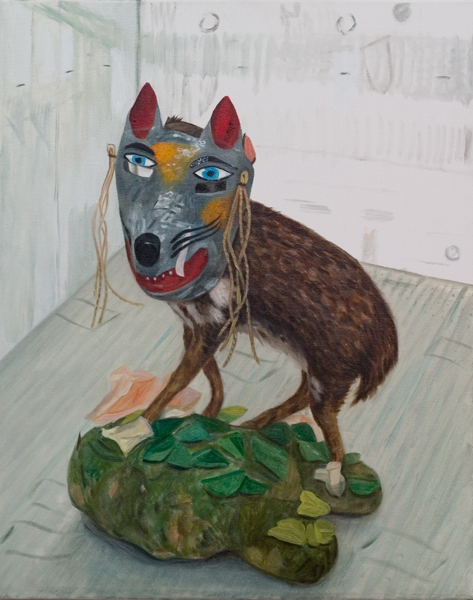 Jacqui Stockdale  Some Kind of Coyote, 2008  Oil on linen 76 x 61cm