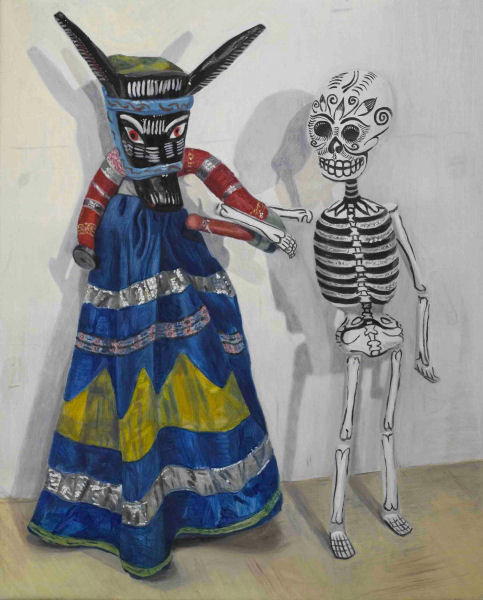 Jacqui Stockdale  Till Death Do Us, 2007  Oil on linen 76 x 61cm