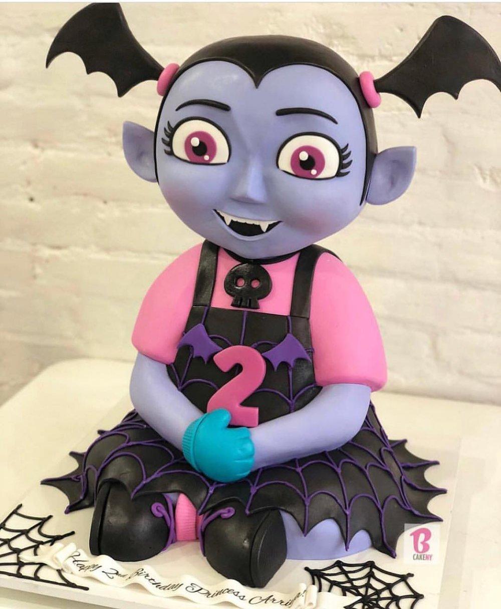 cake shaped like vampire girl