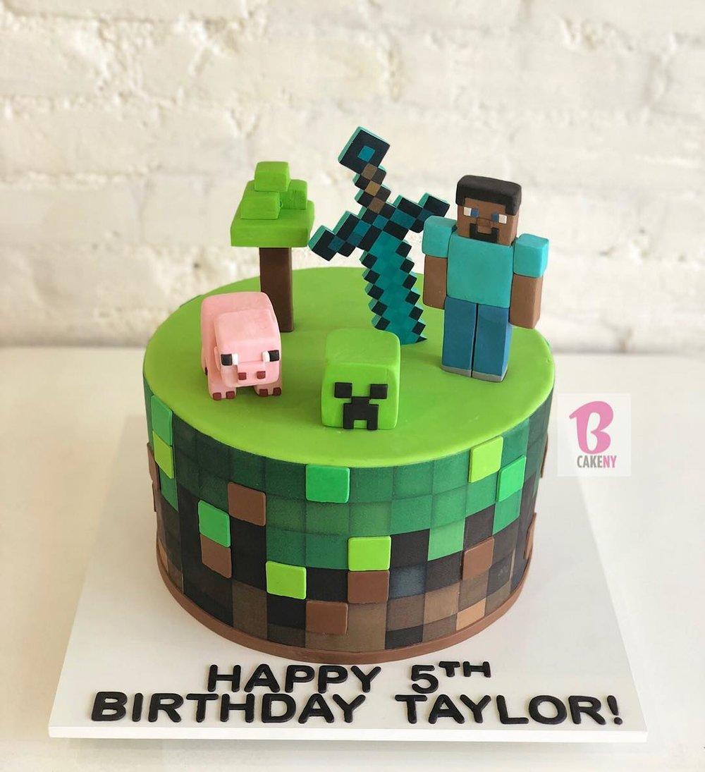 minecraft cake 1 tier