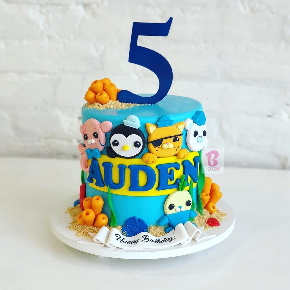 octonauts theme cake 1 tier