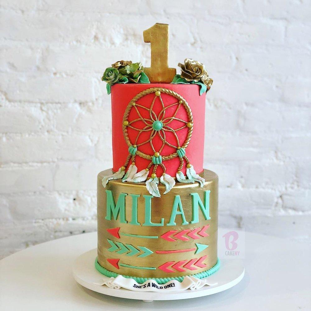 dream catcher cake 2 tiers