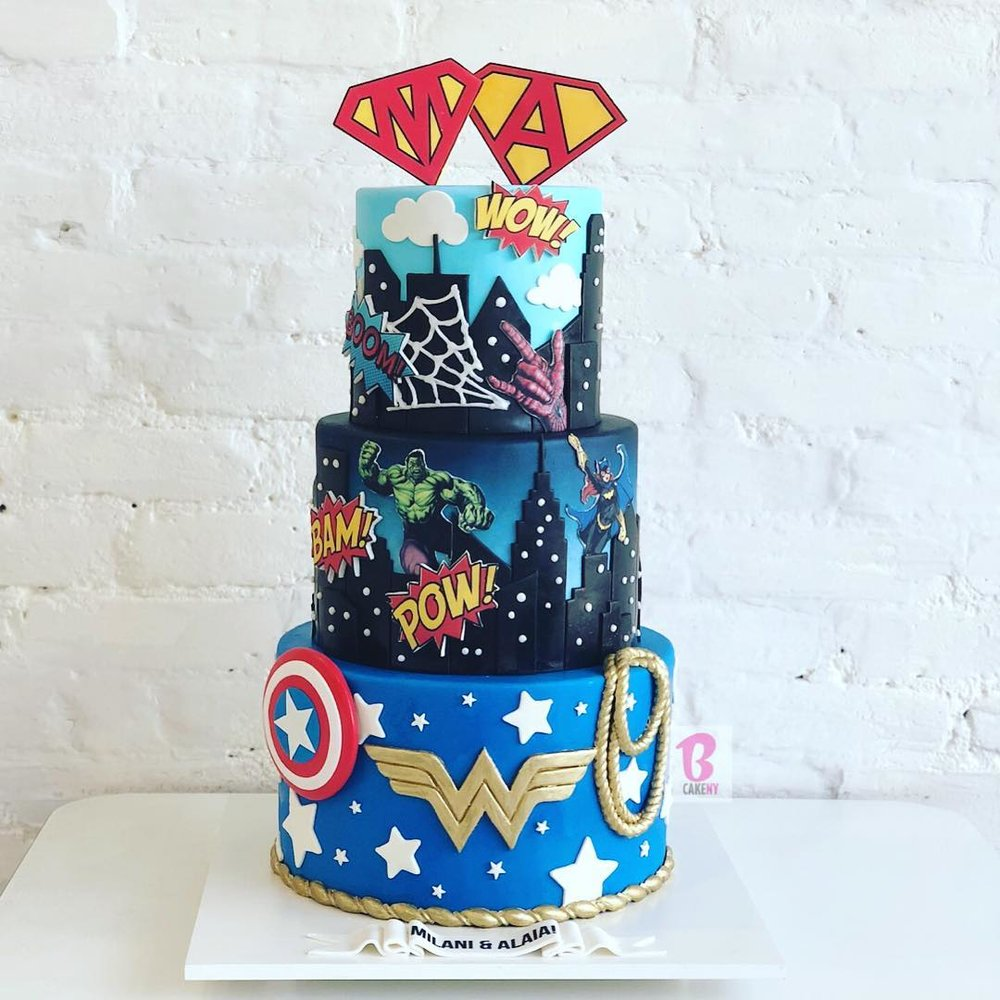 Superhero Cake 3 Tier S