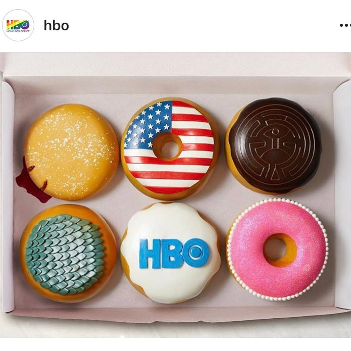 hbo show theme donut cakes