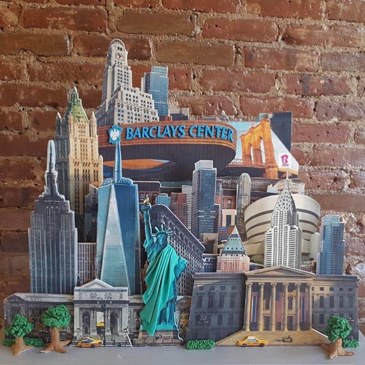 barclays center and nyc theme cake