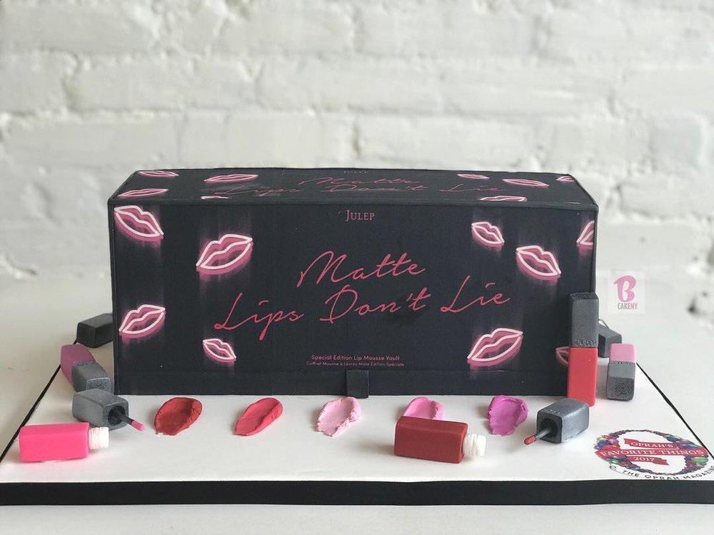 nail polish theme cake