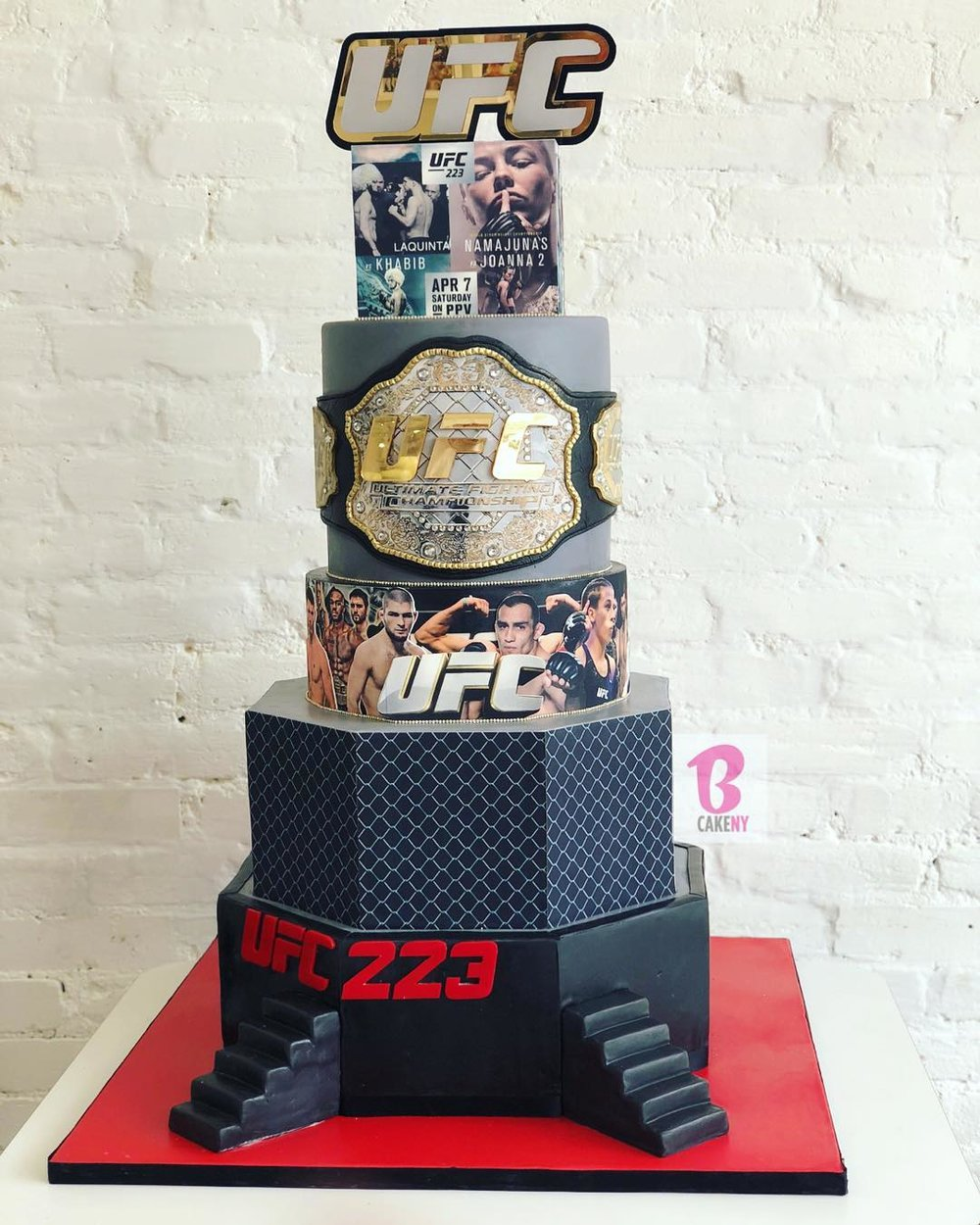 ufc theme cake 4 tiers