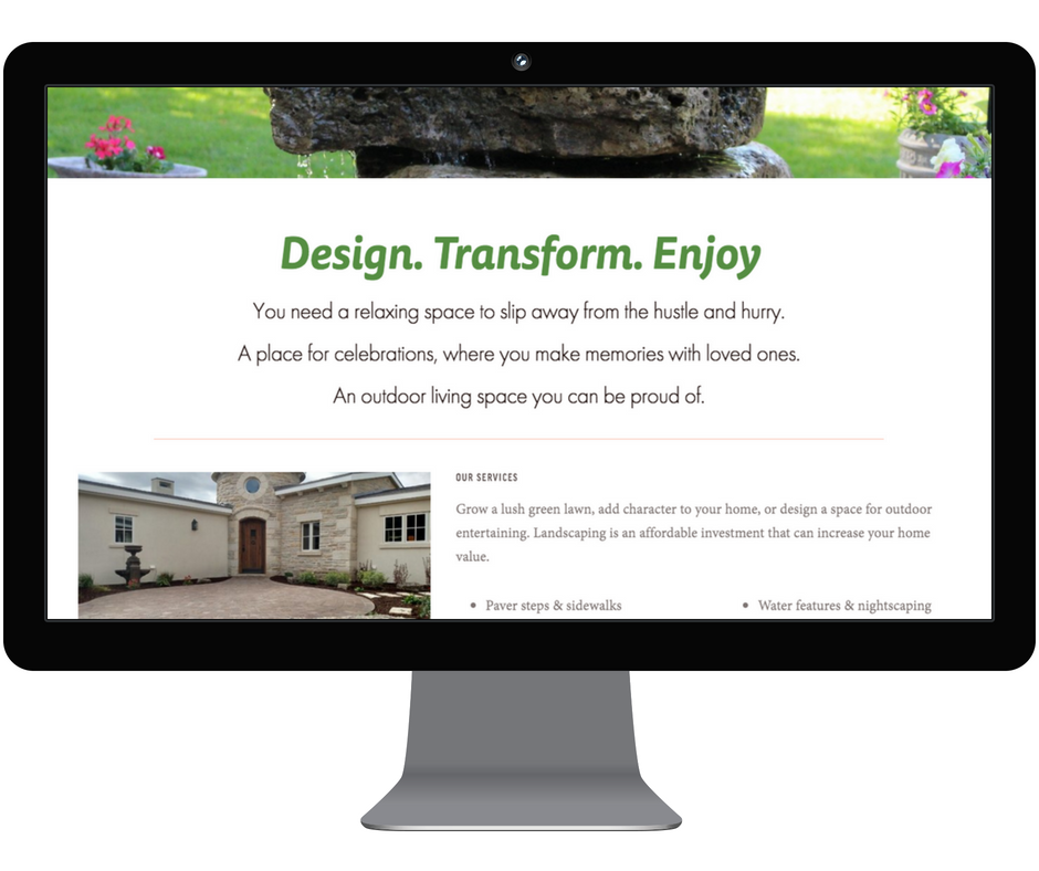 Website Content for Landscaping Company - Grounded Landscape | Manhattan, KS