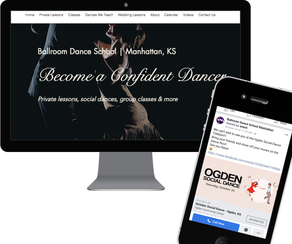 Newsletter, Social Media & Web Content for Dance Instructor - Ballroom Dance School | Manhattan, KS