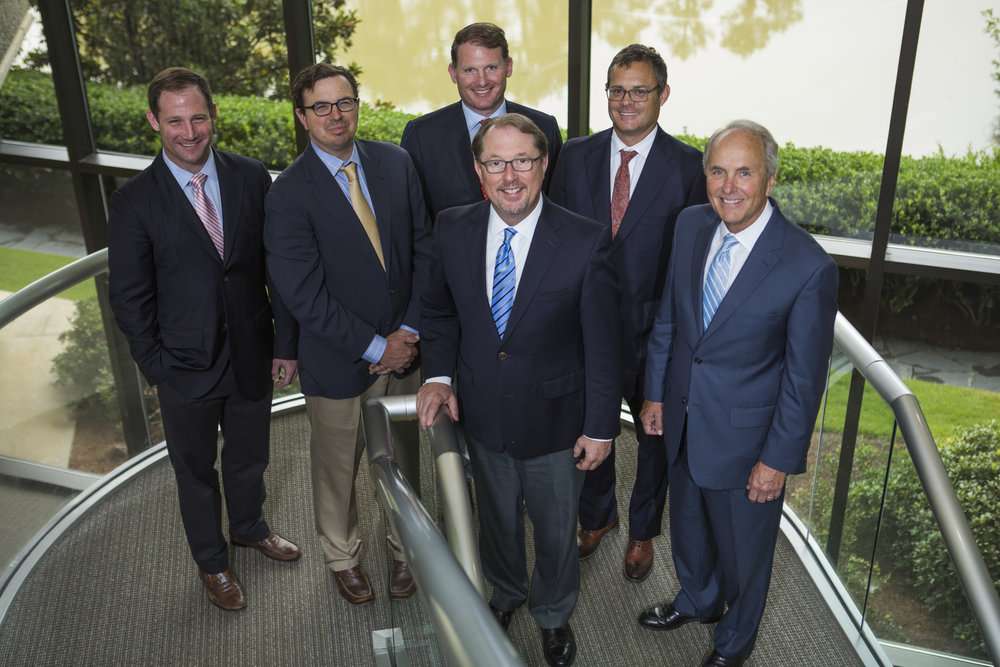 Board of Directors:  left to right – Colin White, Alec Dicks, Christopher White, Jeff Terry, Ken Thrasher and Mark Maynard (front).