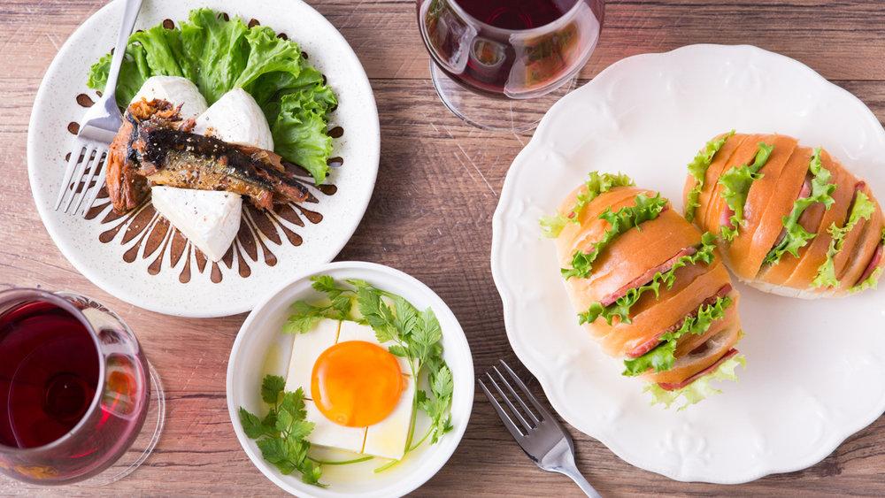 秋刀魚缶詰とカマンベールチーズ/クリームチーズと醤油卵黄/カルボナーラハッセルバックサンド