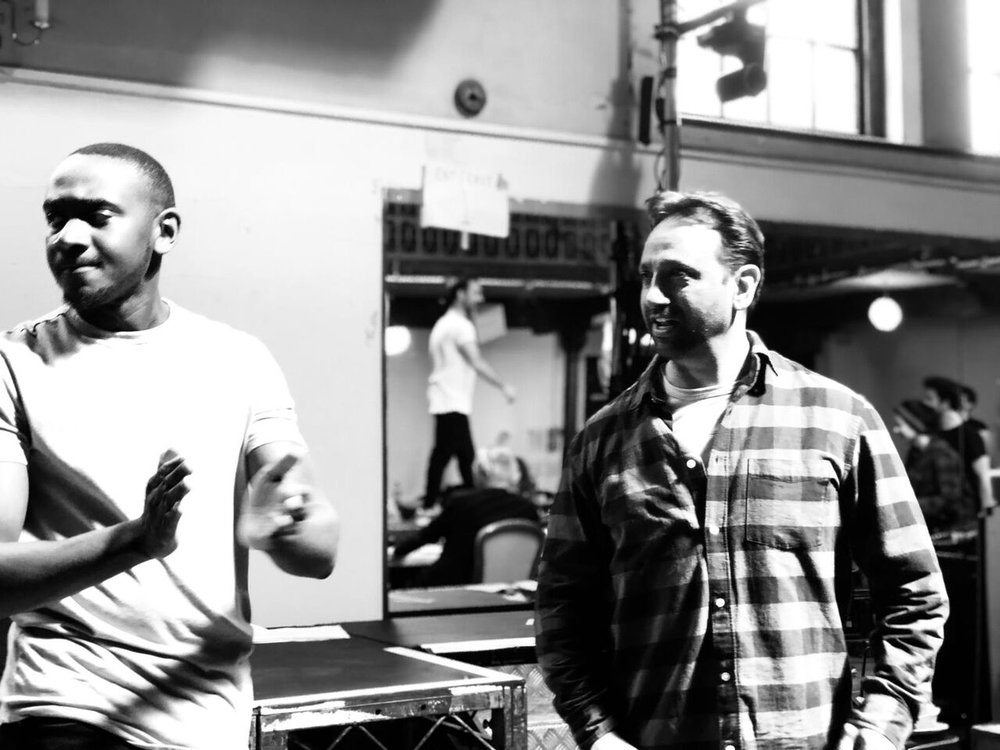 Tiran Aakel and Cherno Jagne in rehearsals for The Jungle