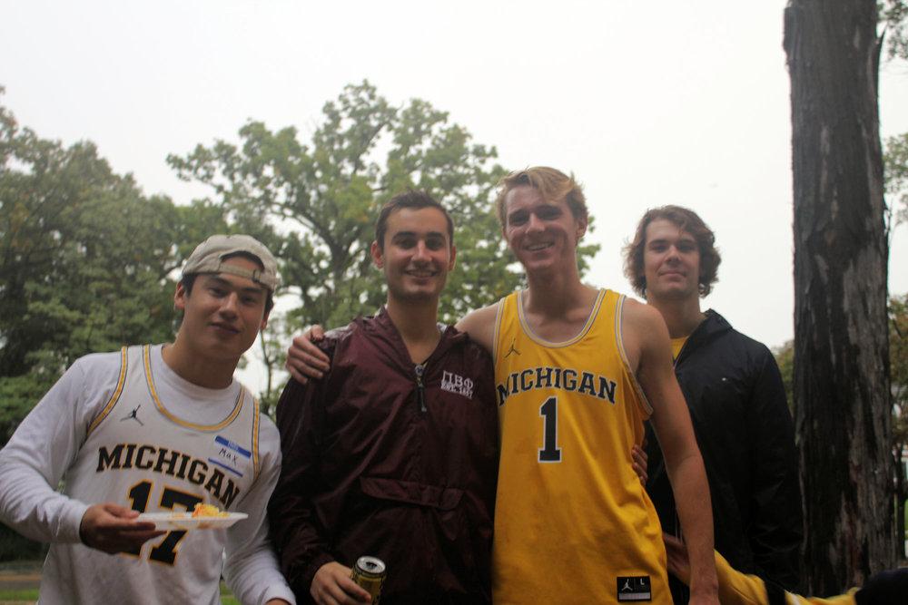 (L to R): Max Czyzycki ('21), Jordan Roberts ('21), Nathan Sadlier ('22), Trey Norris ('22)