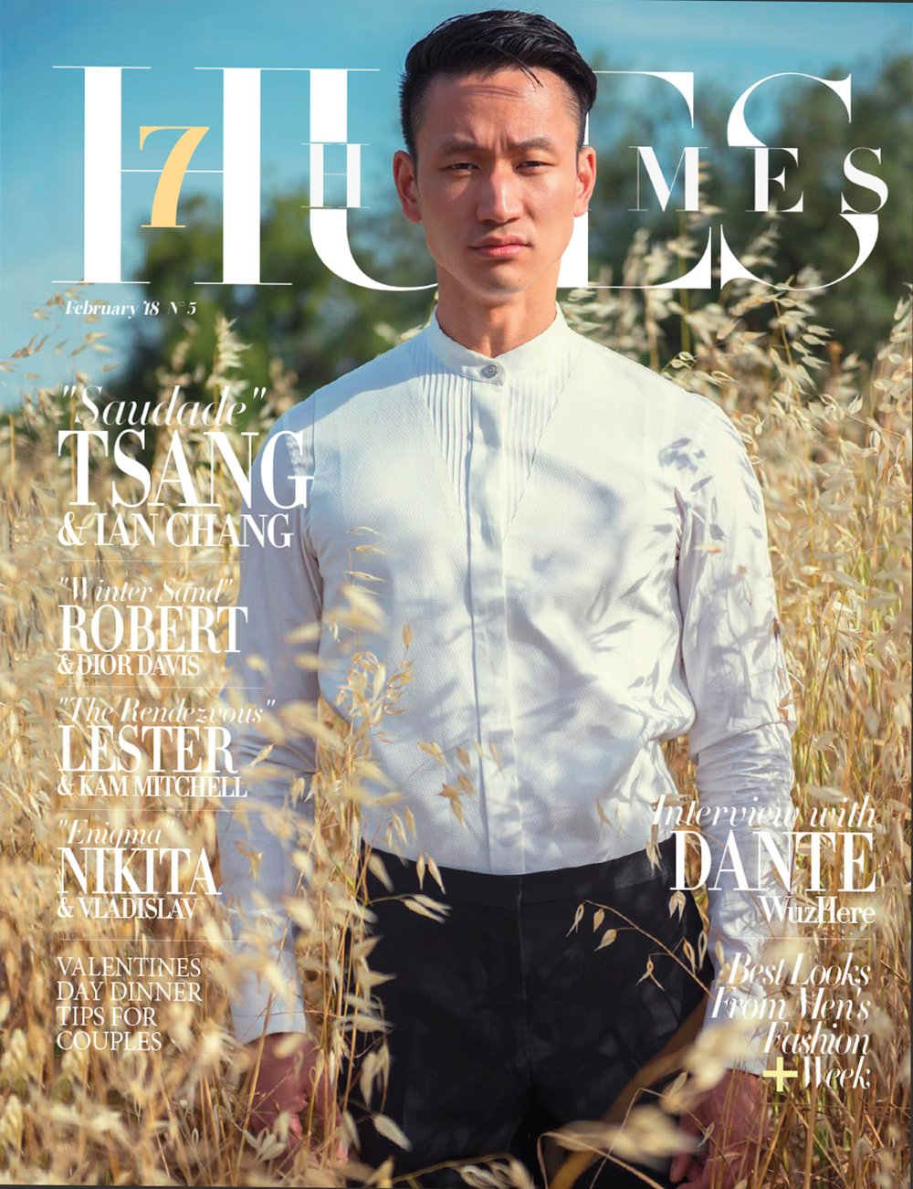- Cover: 7Hues Hommes Magazine, February '18, No. 5
