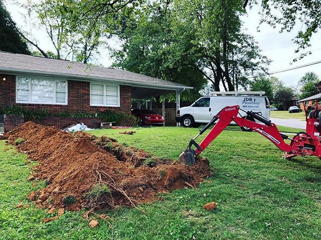 We recently had to replace a sewer for a customer who couldn't even wash a load of clothes without the drains backing up. A lot of times we can get sewers cleared with our drain machine. Unfortunately in this case, the sewer had collapsed. Give us a call for all your drain cleaning and repair needs.