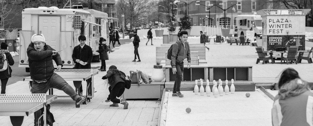 Harvard Plaza, designed to flexibly accommodate a variety of programming throughout 4 seasons.