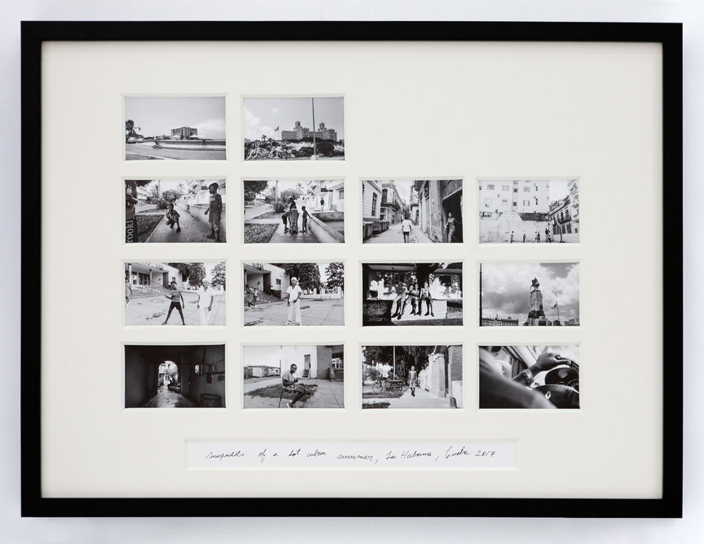 Snapshots of a Hot Cuban Summer , 2017 Archival cotton print with museum glass 24 x 18 inches Edition 1 of 7, 2 AP