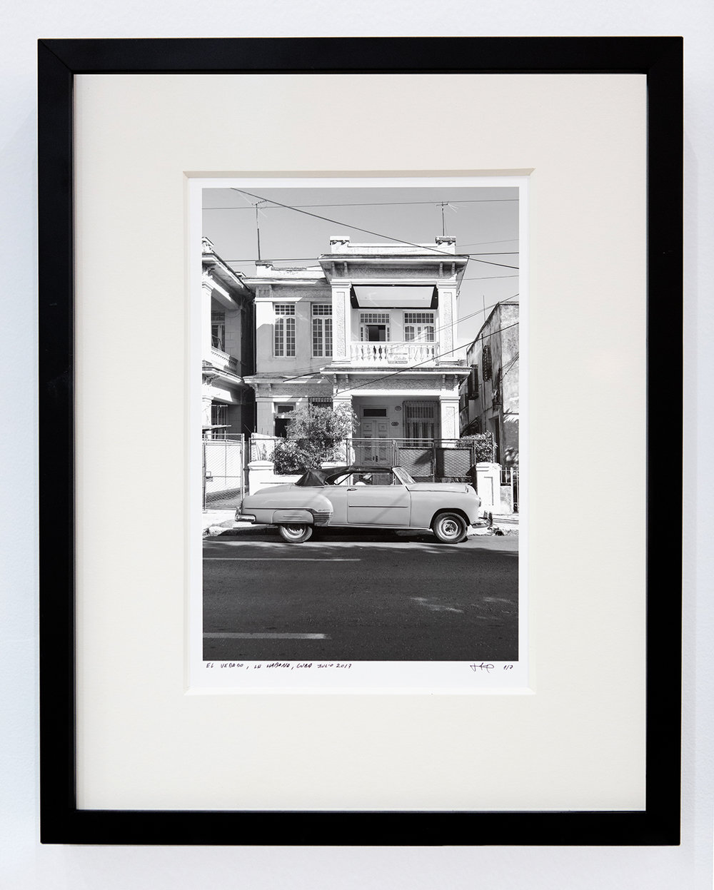El Vedado,  2017 Archival cotton print with museum glass 13 x 17 inches Edition 1 of 7, 2 AP