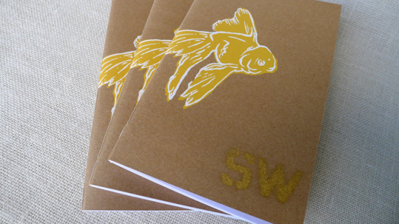 SW001 - Our first print issue features poetry, fiction, & creative nonfiction. It's a run of 240 copies, hand-numbered, with a screenprinted cover (two color) & metallic gold stencil. SW001 is 56 pages. » more