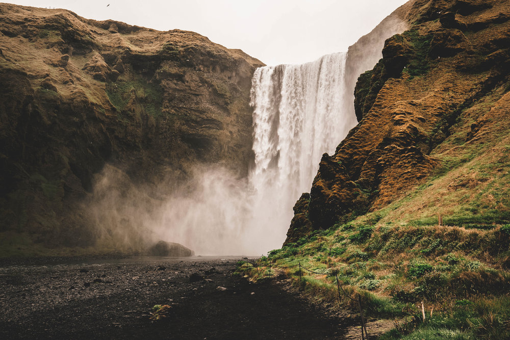 Skogafoss Waterfall, Iceland. You'll get soaked taking a photo of it! Use the ULH to protect your camera.