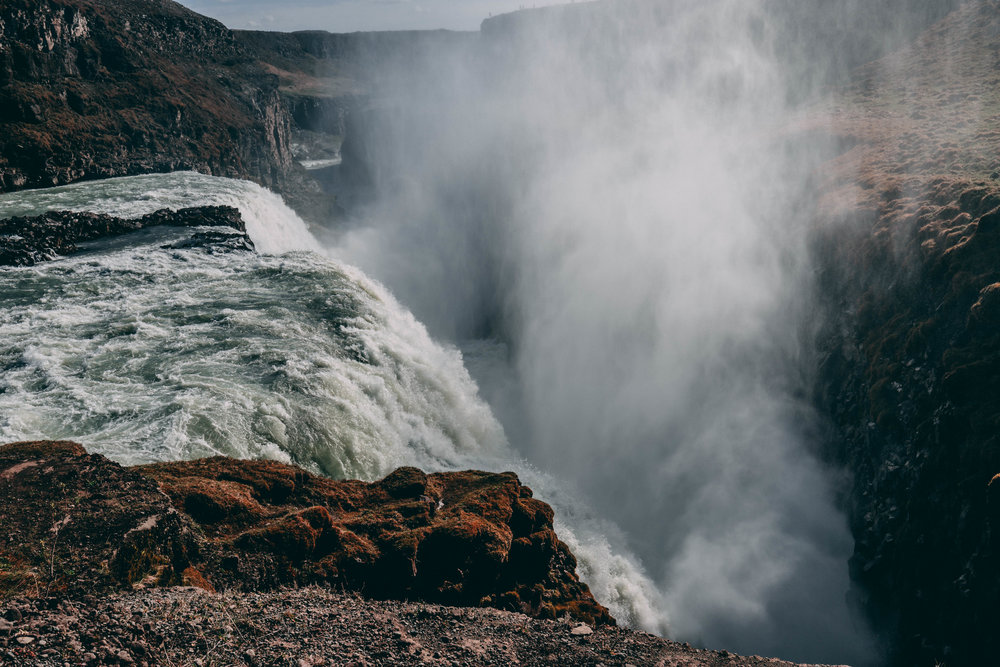 Gullfoss Falls, Iceland. Look at all that spray! ULH keeps it off your camera.