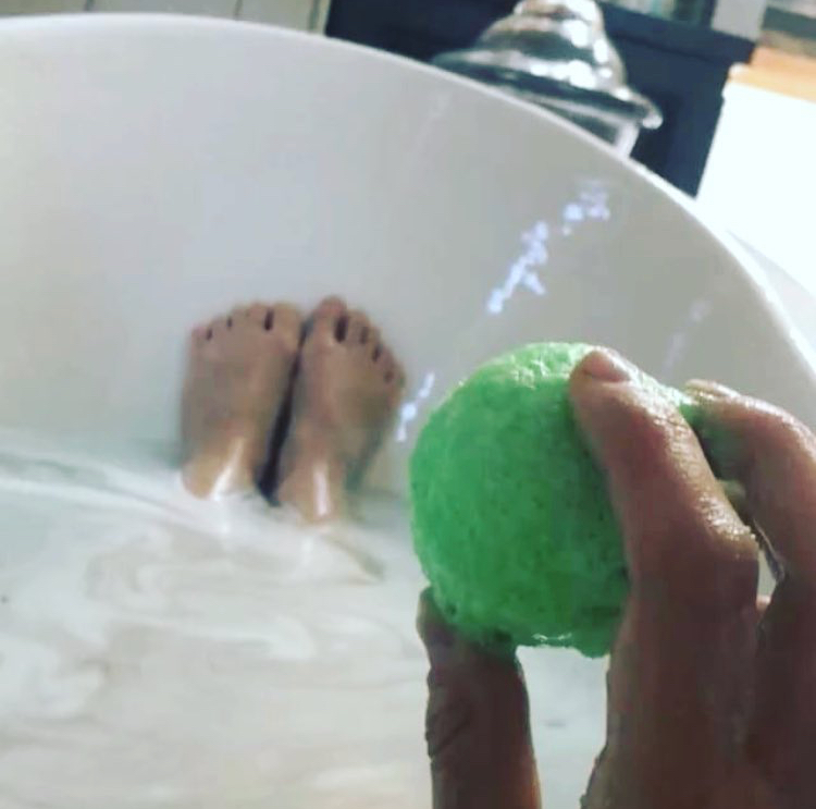 Just drop a CBD infused bath salt in the water and relax!