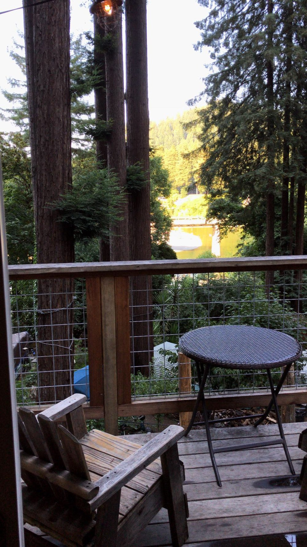 Beautiful view of the russian river right from out balcony
