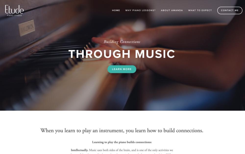 Etude Piano Studio Branding Logo Website Web Design