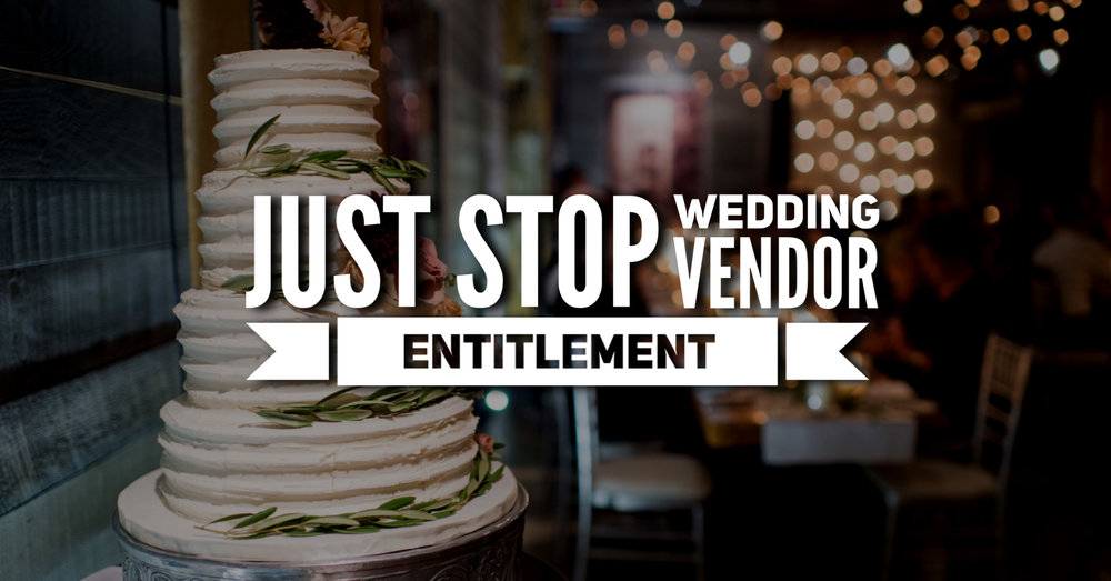 Photographers are tired of being expected to send images to all vendors participating in a wedding. #WeddingVendorEntitlement