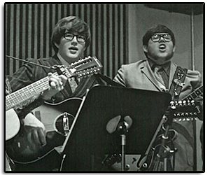 Jim at age 14, performing with his brother Church and playing a 1967 Gibson B-25-12 at a Campus Lutheran Folk Service Rejoice.