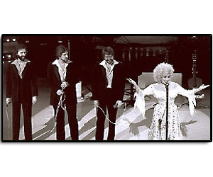 Who is that young guy?  Gregg Perry, Richard Dennison and Jim performing with Dolly Parton way back in 1979!!