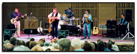 On August 20, 1998, at the Riverwalk Center in Breckenridge Colorado, Jim's original band, Timberline, played together for the first time in 15 years. With Chuck Salestrom on bass, Jim on guitar and banjo, Craig Link on drums, Dugg Duggan on guitar and mouth harps, and Don Garberg filling in for the late Bill Howland on keyboards, the band thrilled a sold out audience with some of their original music and some of Jim's later songs in the first set of the show.