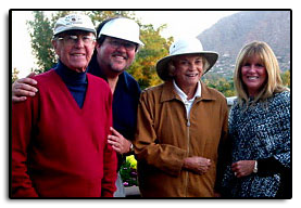In Phoenix Arizona, Jim and his wife Pam took time out for a game of golf with their friends, John and Sandra Day O'Connor.
