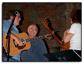 Jim, Kris O'Connor (yes KO was actually spotted on stage) and Kathy Mattea during the rehearsal for the 9th Annual John Denver Tribute Concerts at the Wheeler Opera House in Aspen Colorado.