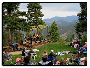 Jim is joined by his good friend Pete Huttlinger, at a party at Rich Lamb's (on the bass) house, in the foothills just west of Denver in 2006 Oh what a view!!