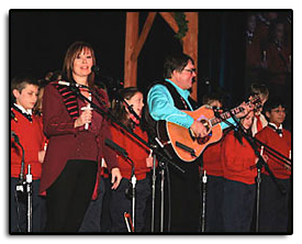 Jim performing with Suzy Bogguss and The Colorado Springs Children's Chorale at the Broadmoor's 2006 Colorado Rocky Mountain Christmas Shows in Colorado Springs.