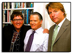 Jim with Erich Stratmann and Tim Hockenberry at the 2008San Francisco Boys Chorus Cabaret Fundraiser.
