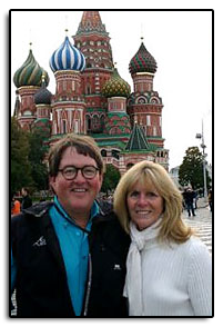 In late September 2008, Jim and Pam toured Russia, including St. Petersburg and Moscow.